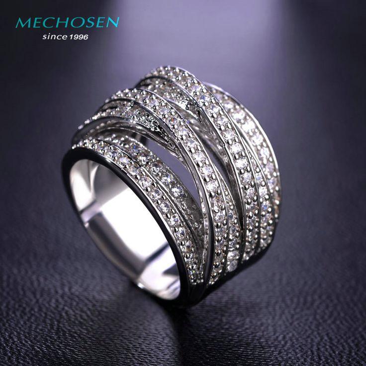 Hot Sale Luxury Zircon Rings For Women Men Engagement Female Gold Plated Multilayer Zirconia CZ Diamond Jewelry - free shipping worldwide