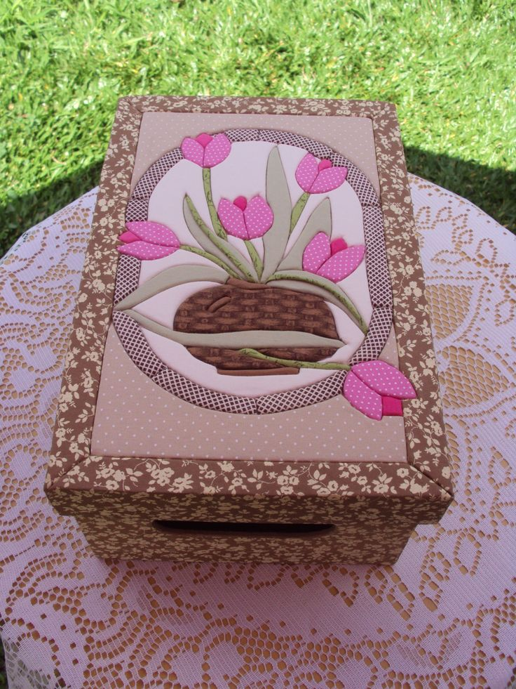 Patchwork Embutido, Patch sem agulhas, Carton Mousse, Caixas, by Jane Schmegel