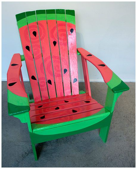 Watermelon Original design and hand-painted by Erin Miller and Matt Olson