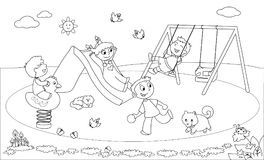Playground Stock Illustrations