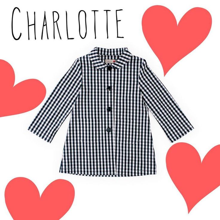 Charlotte Wix Oh my girl!! #trench #ss17 #checkered #spring #girl #newcollection #fashiondesign #babyfashion #modabambini