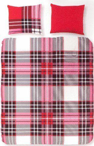 Home Style Dekbedovertrek 3583 Checkered rood
