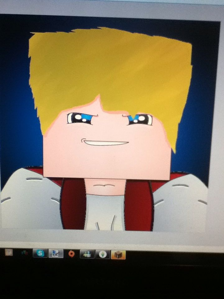 """This is what i made of my minecraft skin.  I got a tutorial from a youtube video.  This is the video's title is:  """"Best Minecraft Avatar  Tutorial - Paint.net""""  U should like the video it helps heaps,tell them """"Divinegamer55893 sent u"""" in the video's comments!"""