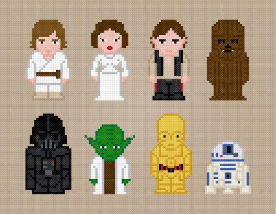 Star Wars Movie Characters  Cross Stitch von AmazingCrossStitch, $7.00