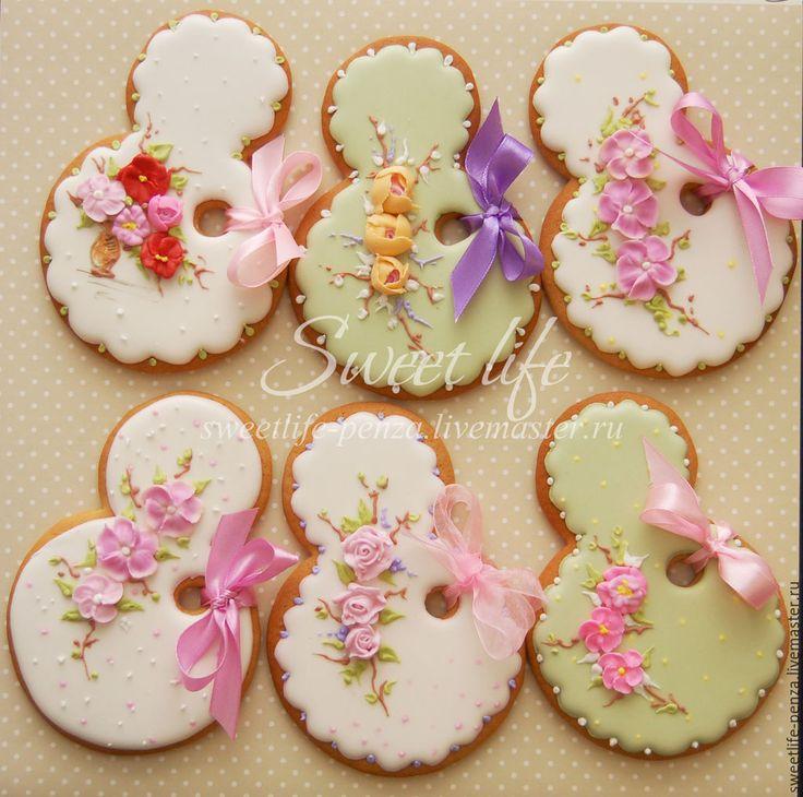 Купить Пряники 8 марта - разноцветный, оригинальный подарок, 8 марта, 8 марта подарок