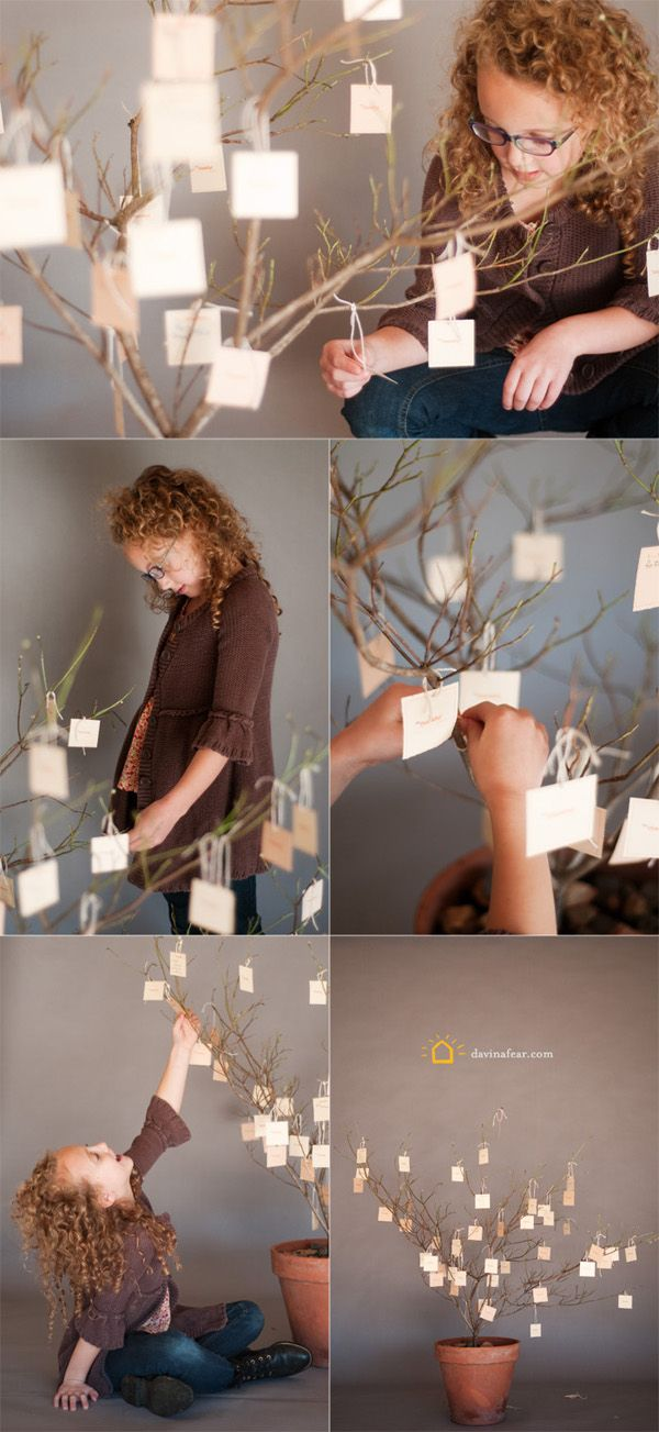Make a simple thankful tree for the Thanksgiving season using a couple tree branches and these free printable tags - then have your family add all the things they are thankful for throughout the month and read them come turkey day!