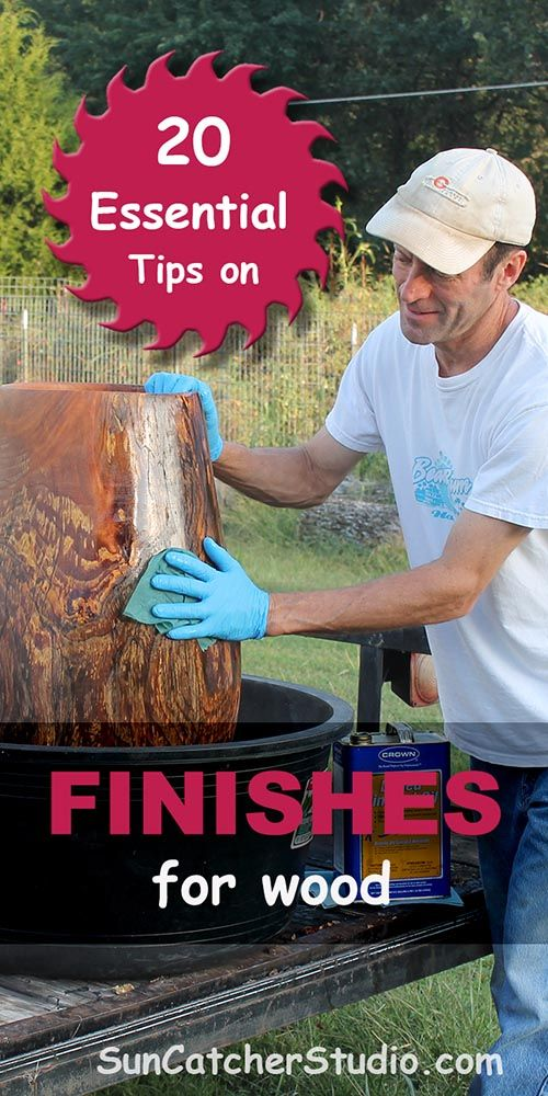 DIY Woodworking Ideas Most woodworkers and woodturners will apply some type of finish to their pieces....