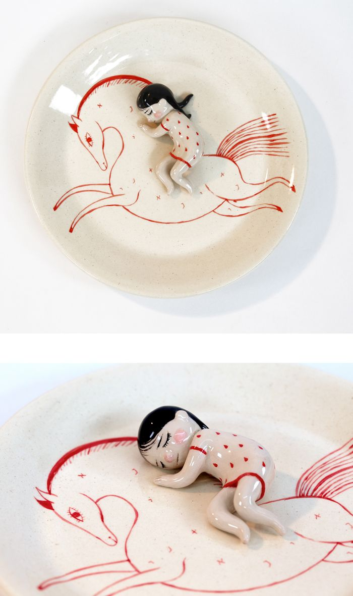 Ceramic Sculptures Living in a Dreamlike Existence by Lena Guberman