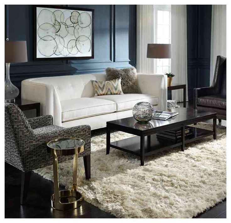 Malone Curved Back Sofa With Carlyle Solid Wood Accent Tables, Made In  Upstate