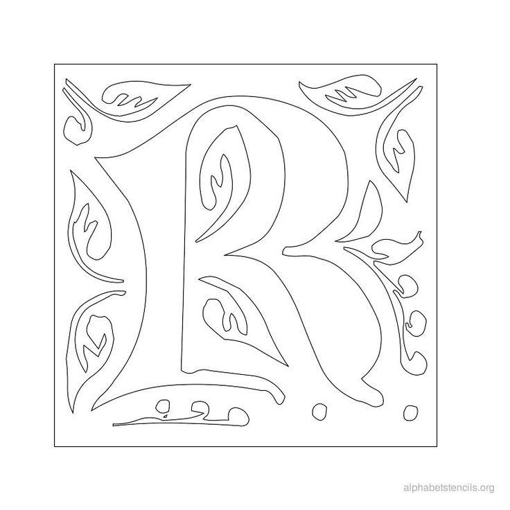 1000 images about fancy letters on pinterest for Fancy alphabet letter templates