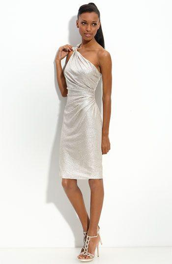 David Meister One Shoulder Matelassé Sheath Dress available at #Nordstrom