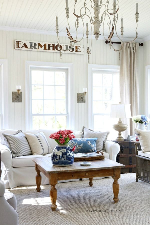 Casual Spring Sun Room Country House Decor French Country Living Room Country Decor