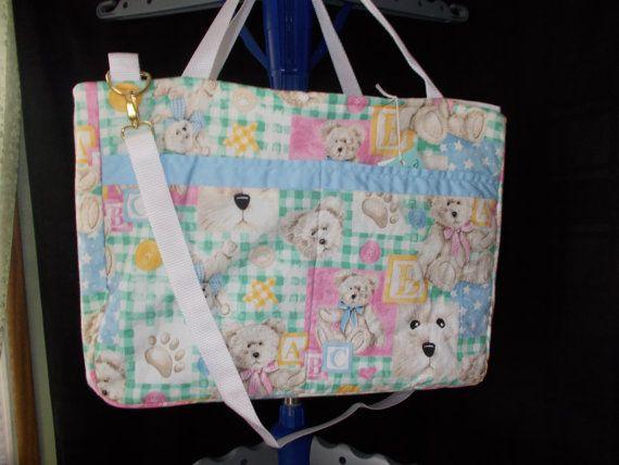 Teddy Bears Blue and Pink diaper Bag, Boyd's Bears diaper bag, baby shower gift, Baby Boy Diaper Bag, Baby Girls diaper Bag,Babies bag
