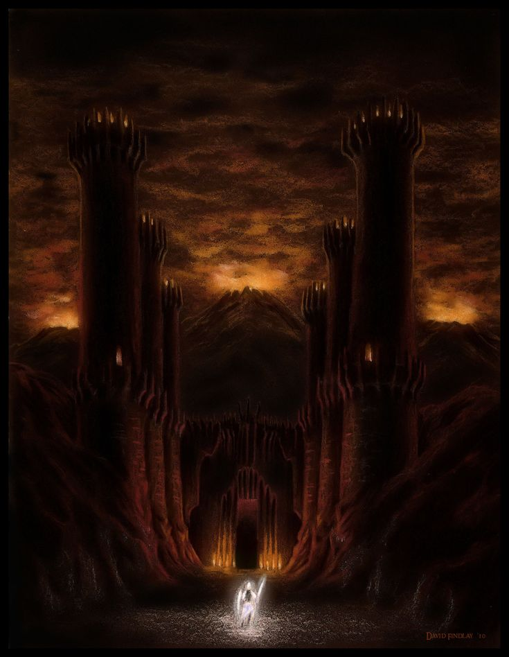 Fingolfin arrives at the gates of Angband, to meet Morgoth
