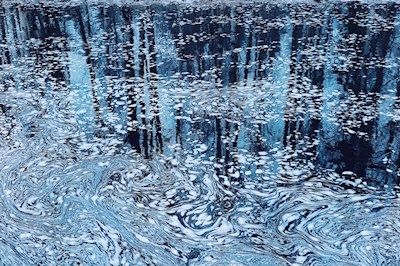 Sandra Linnell - Monet was here, water, reflection, abstract photo art, prints and posters