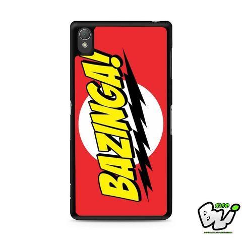 Red Yellow Bazinga Sony Experia Z3,Z4,Z5,C3,C4,E4,M4,T3 Case,Sony Z3,Z4,Z5 MINI Compact Case