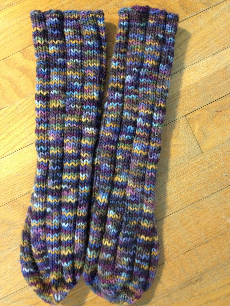 Knitted Tube Socks, Malabrigo worsted weight yarn, pattern ...