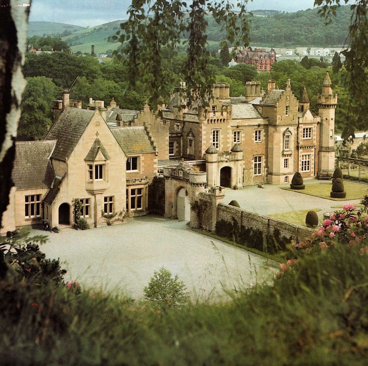 Abbotsford -- the home of Sir Walter Scott in Melrose, Scotland.  This looks like a model.