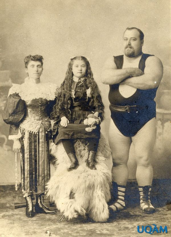 "Louis Cyr's wife and daughter toured with him as ""The Troupe Cyr"". It is said that his daughter, Emiliana, could lift 300 lb. weights at the age of eight."