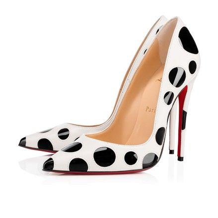 5ac06fea9ee1 Christian Louboutin Black So Kate Bubble 120 White Polka Dot Patent Bubbles  Heel Pumps Size EU 37.5 (Approx. US 7.5) Regular (M