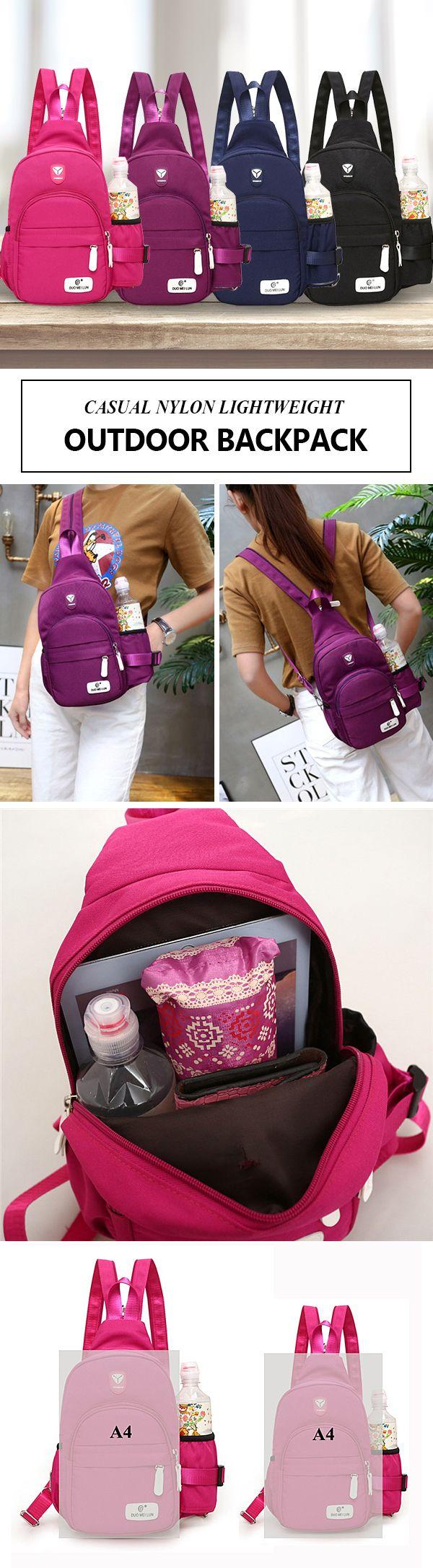 [$ 14.68 ~ 16.18] Casual Nylon Lightweight Outdoor Travel Chest Bag Shoulder Bag Backpack For Women