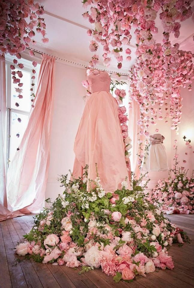 Peony & Blush Suede, Floral Artist Rebecca Louise Law created a spectacular floral installation at the Jo Malone™ Townhouse, featuring over 10,000 peonies.