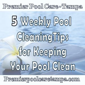 5 tips that will help you keep your pool sparkling clean. http://premierpoolcaretampa.com/blog/pool-maintenance/5-weekly-pool-cleaning-tips-for-keeping-your-tampa-pool-clean/