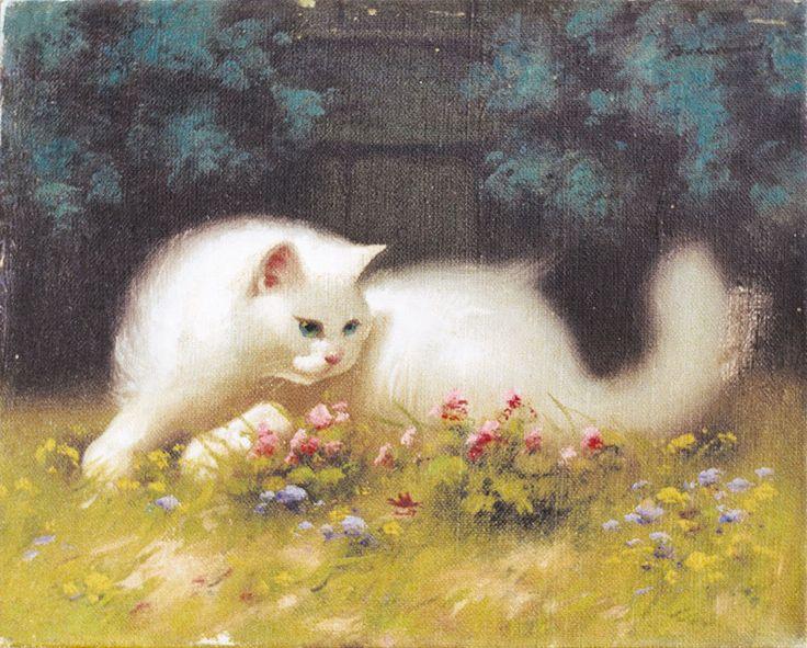 white persian cats in art beno-boleradszky