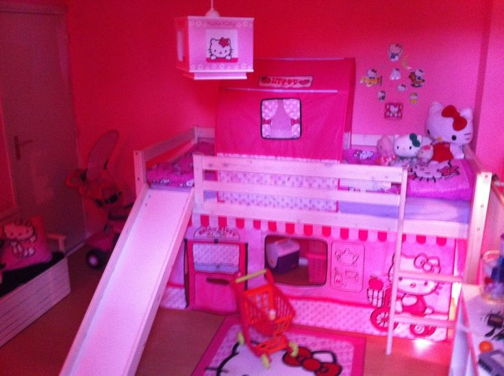 Meisjeskamer hello kitty chambre fille hello kitty - Deco chambre hello kitty ...