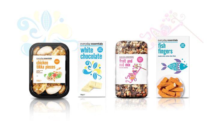 Aldi Everyday Essentials Packaging & Illustration Design