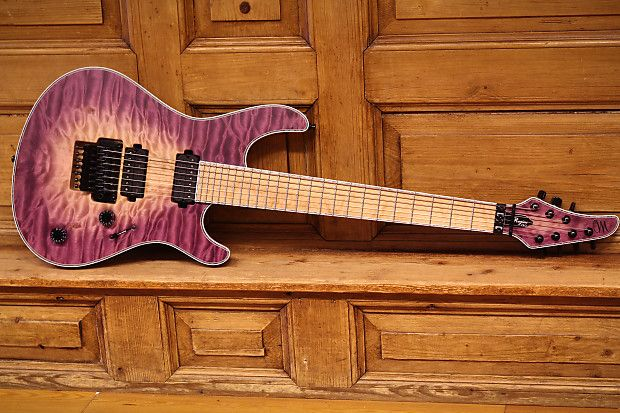 Mayones Regius Pro 7 Quilted Maple 4A Transparent Natural | Reverb