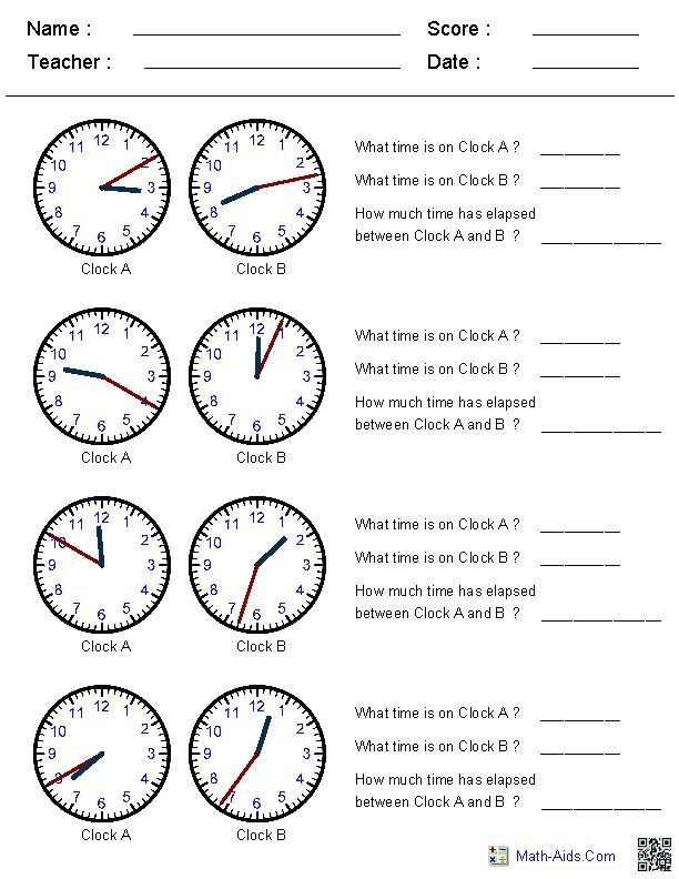 Best Time Worksheets Images On   Printable Worksheets