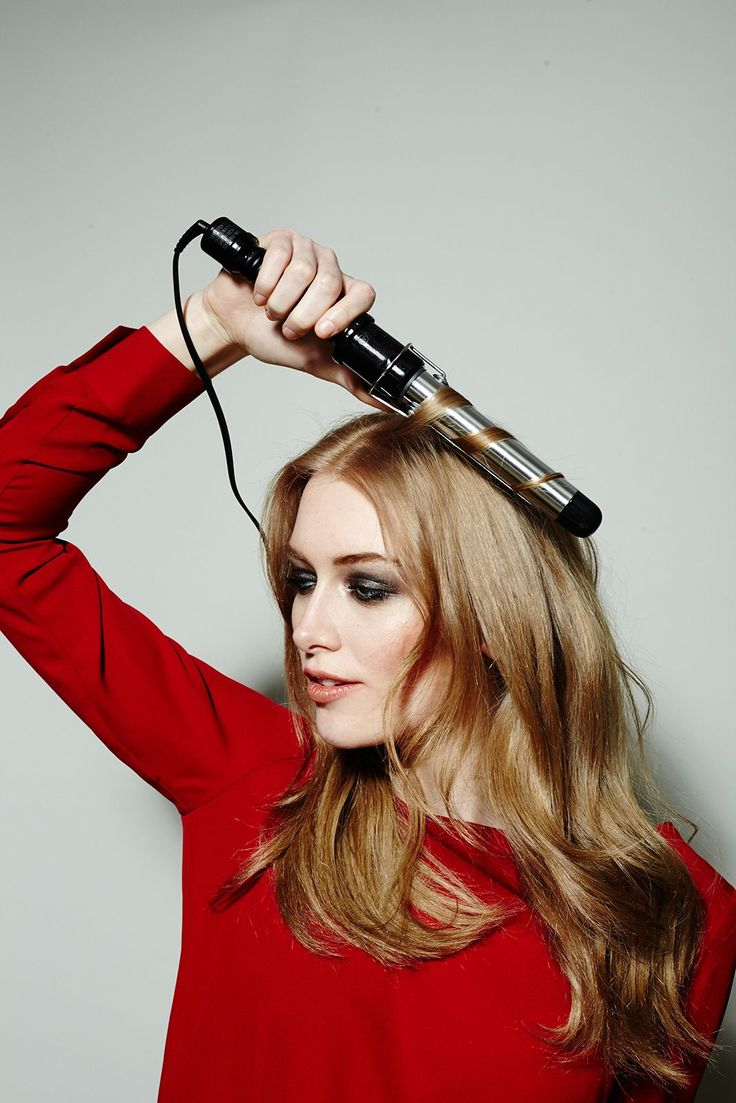 """1 Curling Iron, 5 Gorgeous DIY 'Dos  #refinery29  http://www.refinery29.com/curling-iron-hairstyles#slide-28  Then, start picking up sections of hair throughout the top layer to curl. We're just adding texture here, not full-blown waves. """"Because, some days it's not about overdoing it,"""" says Maclay. ..."""