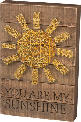 Item # 30461 | String Art - Sunshine | Primitives by Kathy