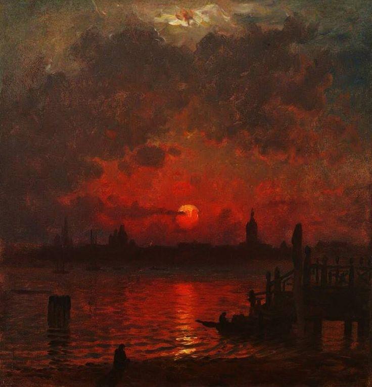 Venice At Night C 1874 By John Joseph Enneking