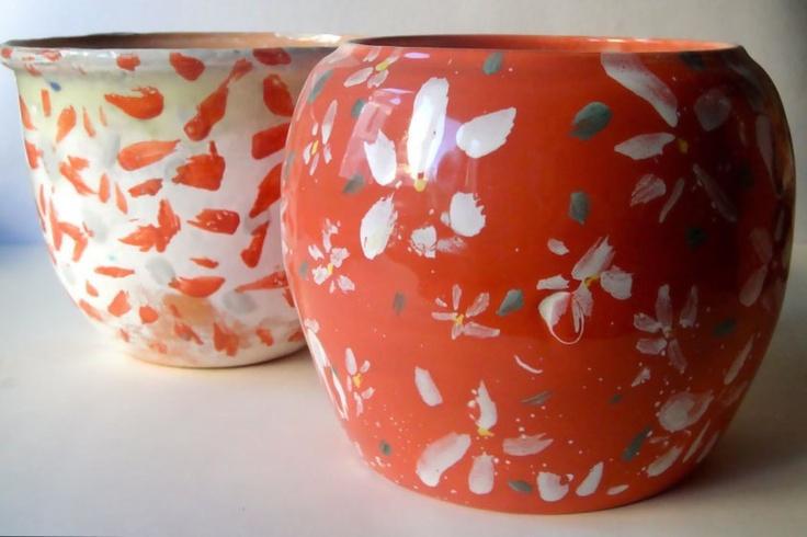 ceramica, margherite
