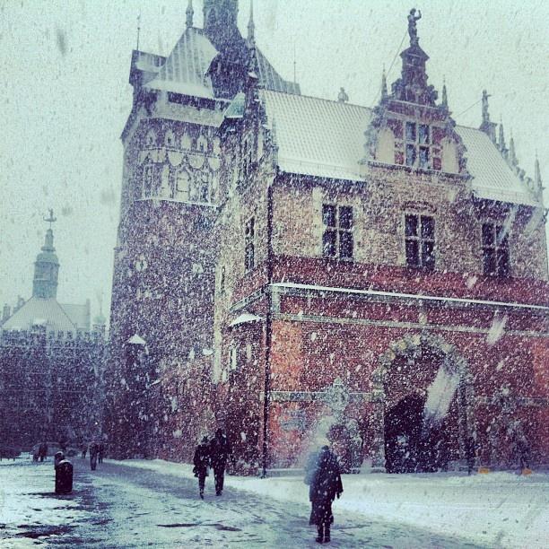 Winter in Gdansk again #igersgdansk #gdansk #pomorskie #poland #zima #winter (w: Muzeum Bursztynu)