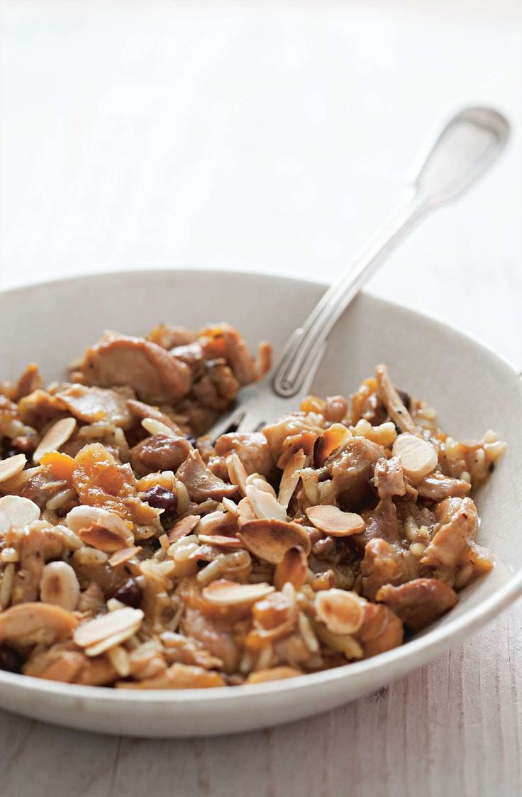Chicken with apricots and almonds by Rebecca Seal from Istanbul | Cooked