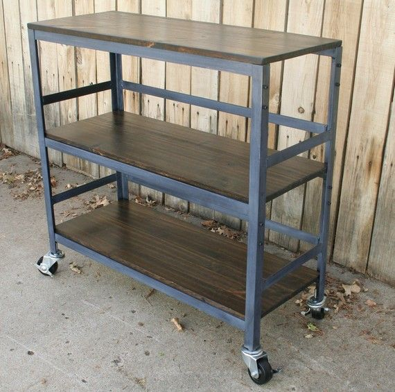 Wood And Metal Industrial Kitchen Cart: 137 Best Kitchen Cart Images On Pinterest