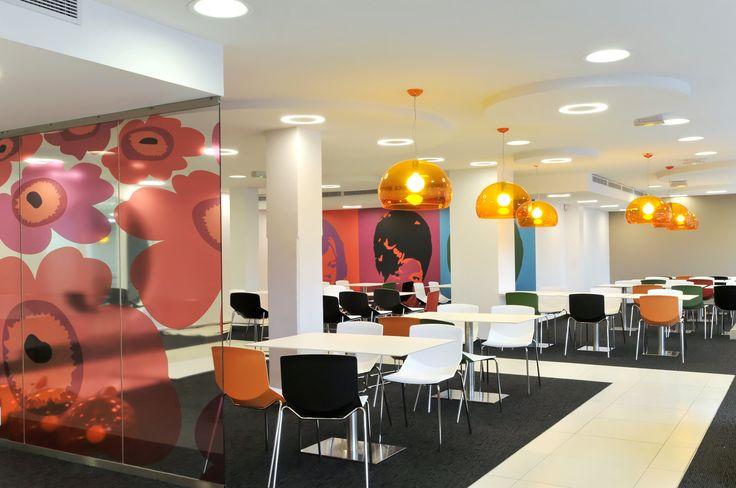 Cafétéria agencée par Cléram. #style #design #bureau #architecture #aménagement #workspace #coolworking #interior #deco #Cléram #art #office #idea #conception #company #work #goodvibes #entreprise #cafeteria #cafe #coffee #restaurant #repas #mealtime