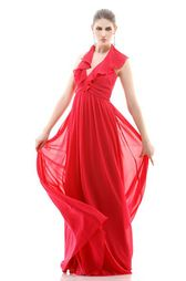 Red flowing gown. Divine!