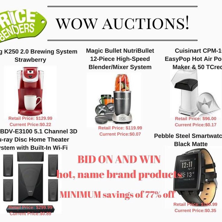 PRICEBENDERS™ Penny Auctions allow you to bid on and win hot, name brand products for a fraction of the retail price. Join the fun today! http://www.tripleclicks.com/16906677.113/pbgw