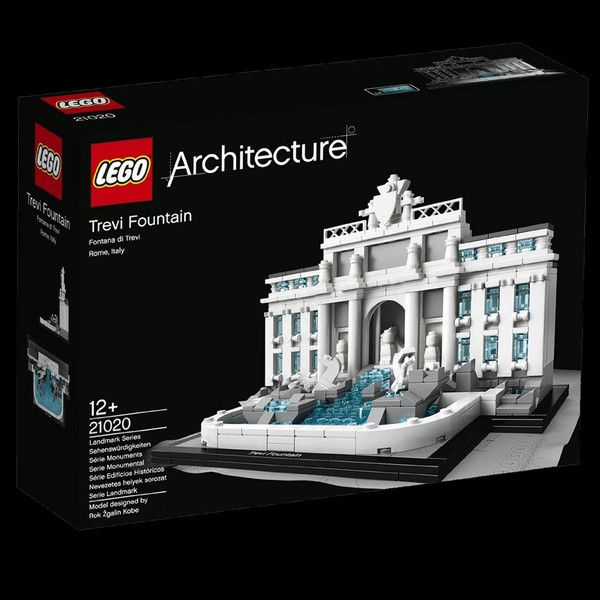 Lego Architecture Trevi Fountain 21020 Building Toy Construct A Detailed Lego Brick Model Of The World Famous Trevi Fountain The Largest Fountain In Rome