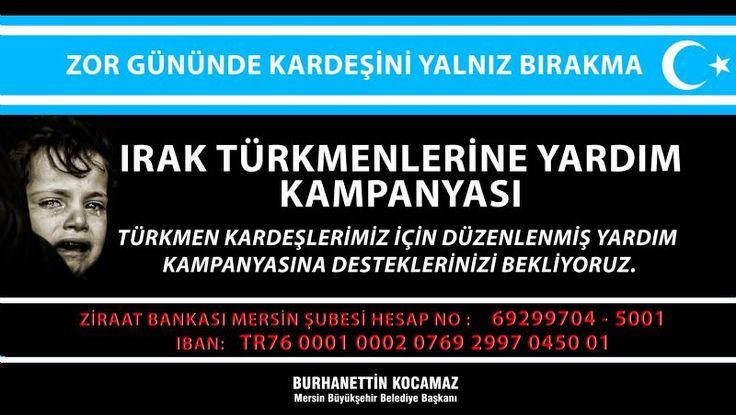 Iraklı Türkmenlere Yardım Kampanyası http://www.yenisehirgundem.com/irakli-turkmenlere-yardim-kampanyasi.html
