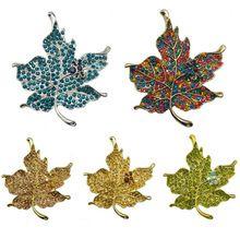 Di fascia alta moda bella acero colorato foglie della lega spilla accessori all'ingrosso di vendita del commercio stile caldo(China (Mainland))