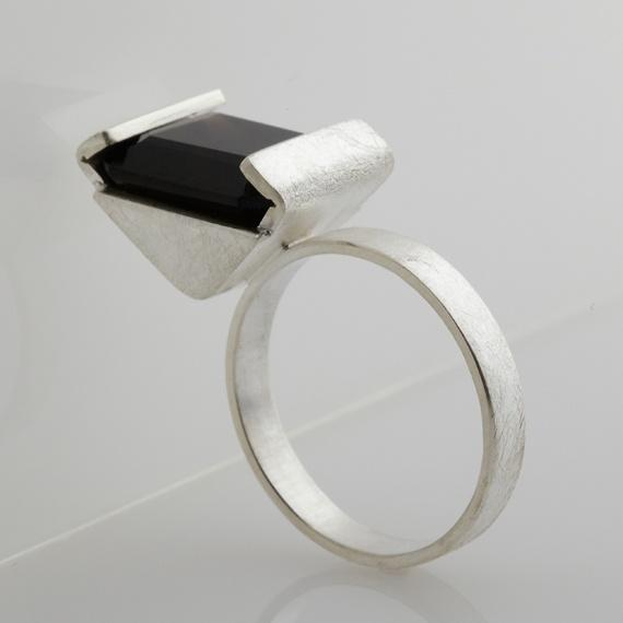 Octagonal Quartz Ring by Niamh Spain
