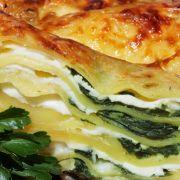 Lasagne met gerookte kipfilet, gorgonzola tomaten en spinazie/  Smoked Chicken, Gorgonzola, Tomato, Spinach Lasagna (recipe is in Dutch)