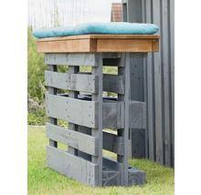 Palettenbarbank Holz 2-Sitzer grau
