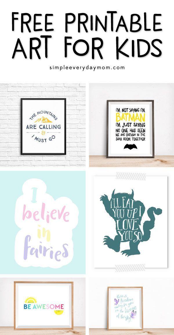 Free Nursery Art Prints That Will Save You Money Art Wall Kids