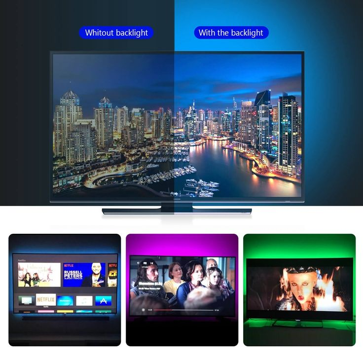Relieve Your Eye Strain: Adds a great backlighting to your monitor, TV, desktop, PC, reducing the eyestrain caused by differences in picture brightness from movies scene, shows and games. It can also help make the different color on your screen seem richer